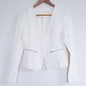 NWOT HaVe White Open Front Long Sleeves Blazer